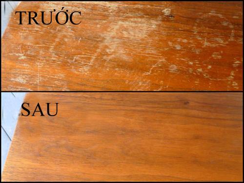 Mẹo làm sạch đồ gỗ đơn giản hiệu quả
